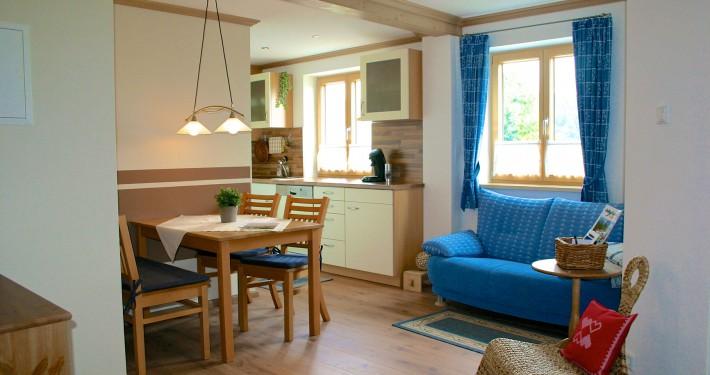 Wohnbereich Ferienwohnung Alpenblick